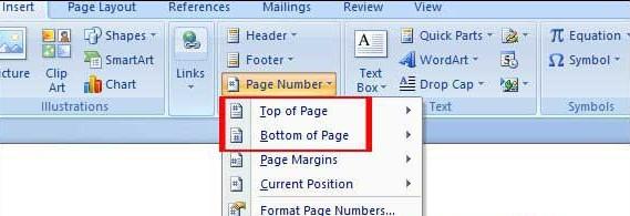 đánh số trang