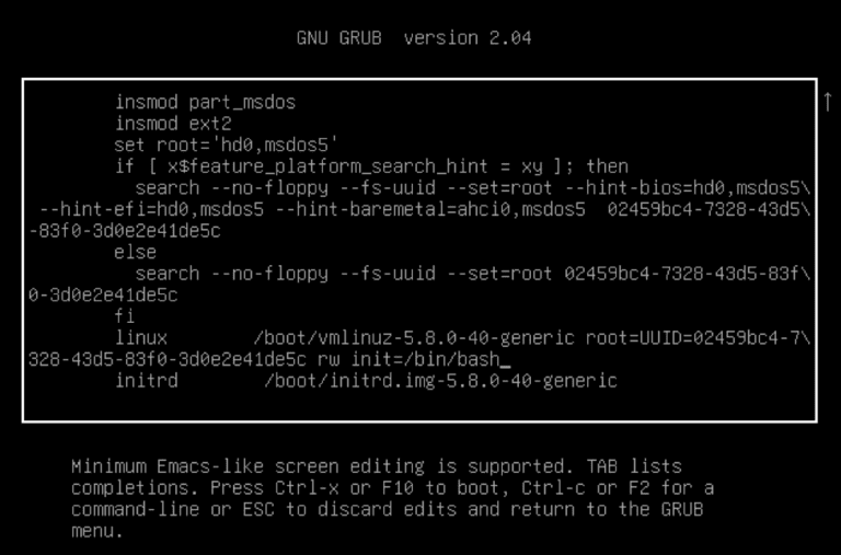 ubuntu reset pass 3 sau
